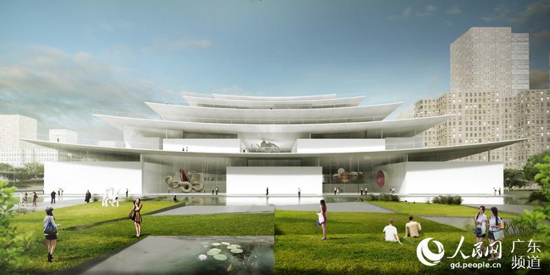 绿色建筑设计方面采用主被动技术结合,顶层檐口太阳能电池板,置换通风图片