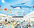 小小社区医院仁心仁术        广州番禺区桥南街社区卫生服务中心,二楼蓝色的吊顶上画着各式各样、五彩斑斓的海洋生物,让人仿佛置身于海洋世界。