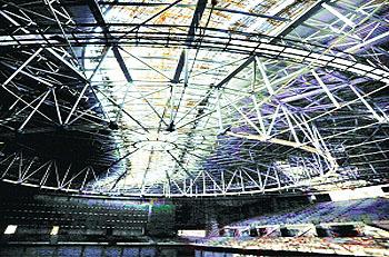 广州南沙体育馆主体工程竣工