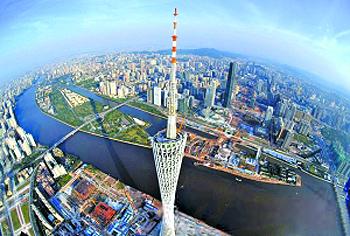 航拍广州气势恢宏如歌如画