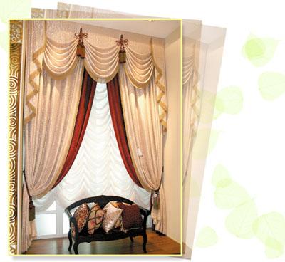 据吴总介绍,近年来比较流行的窗帘款式有低调奢华,新东方主义,英式图片